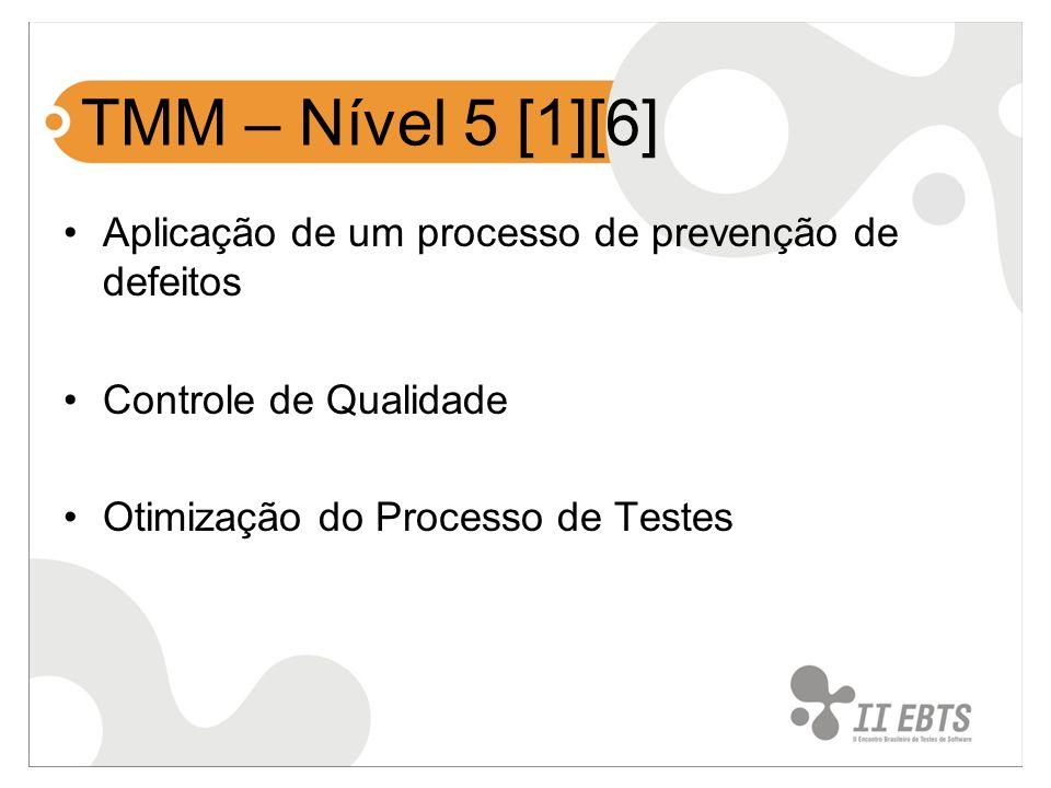 TMM – Nível 5 [1][6] Aplicação de um processo de prevenção de defeitos